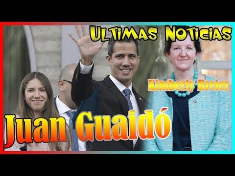 Quién es la mujer que acompaña a Guaidó durante sus viajes (y no a su esposa)