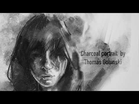 Expressive portrait in charcoal - Demo