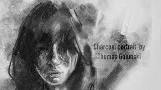 Expressive portrait in charcoal - Demo