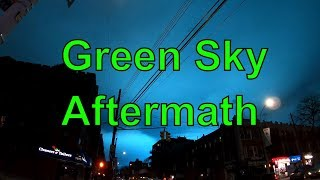 """Aftermath of """"Green Sky Night"""": Walking by Con Edison Transformer Explosion in Astoria, Queens, NYC"""