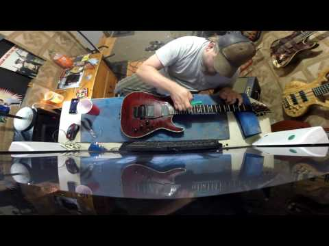 Restringing and setting up my Schecter Hellraiser C1FR
