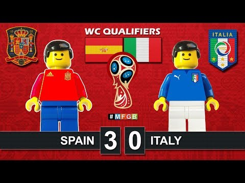 Spain vs Italy 3-0 • World Cup Russia 2018 Qualifiers (02/09/2017) • Lego Football Film Goals