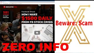 Indicator Pro - Another Mischievous Scam Revealed !!!