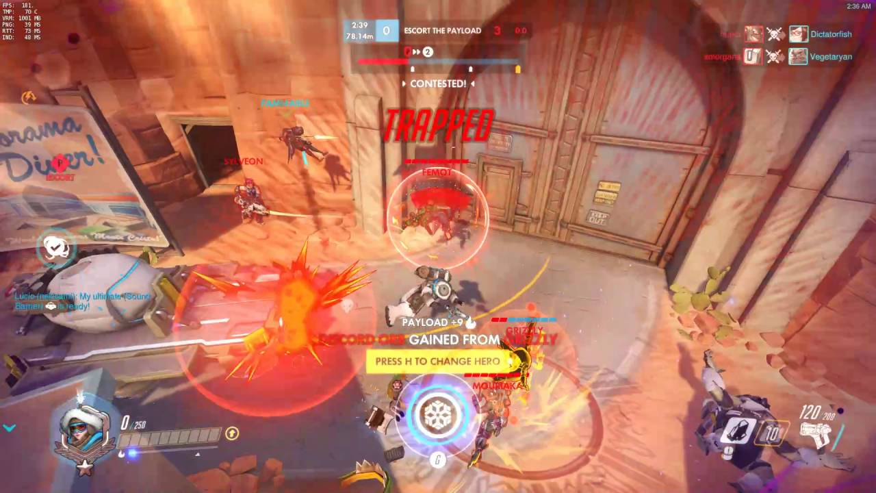 Overwatch: These are what RTT lag spikes look like