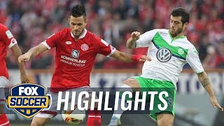 FSV Mainz 05 vs. VfL Wolfsburg | 2015–16 Bundesliga Highlights