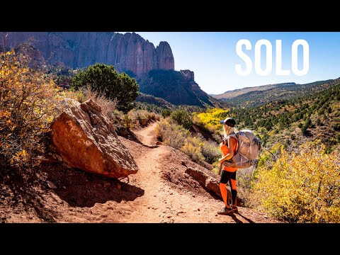 SOLO BACKPACKING the ZION WILDERNESS Fall 2020 4K | Kolob Canyon Zion | Zion National Park