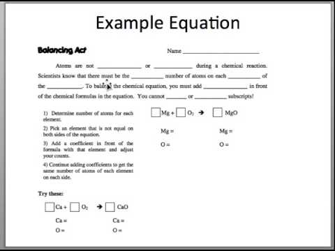 Worksheets Balancing Act Worksheet Answer Key balancing act video youtube video