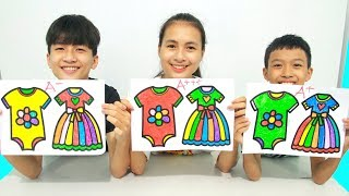KuMin Kids Go To School Learn Coloring Dresses and Clothes Children's at Classroom Funny