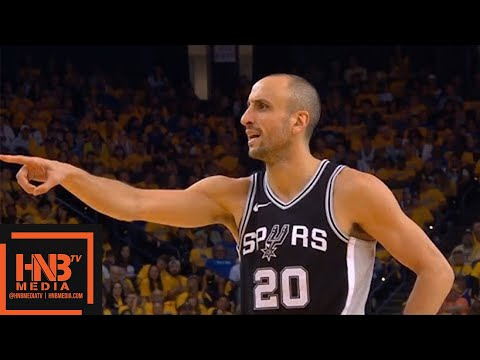 Golden State Warriors vs San Antonio Spurs 1st Half Highlights / Game 1 / 2018 NBA Playoffs