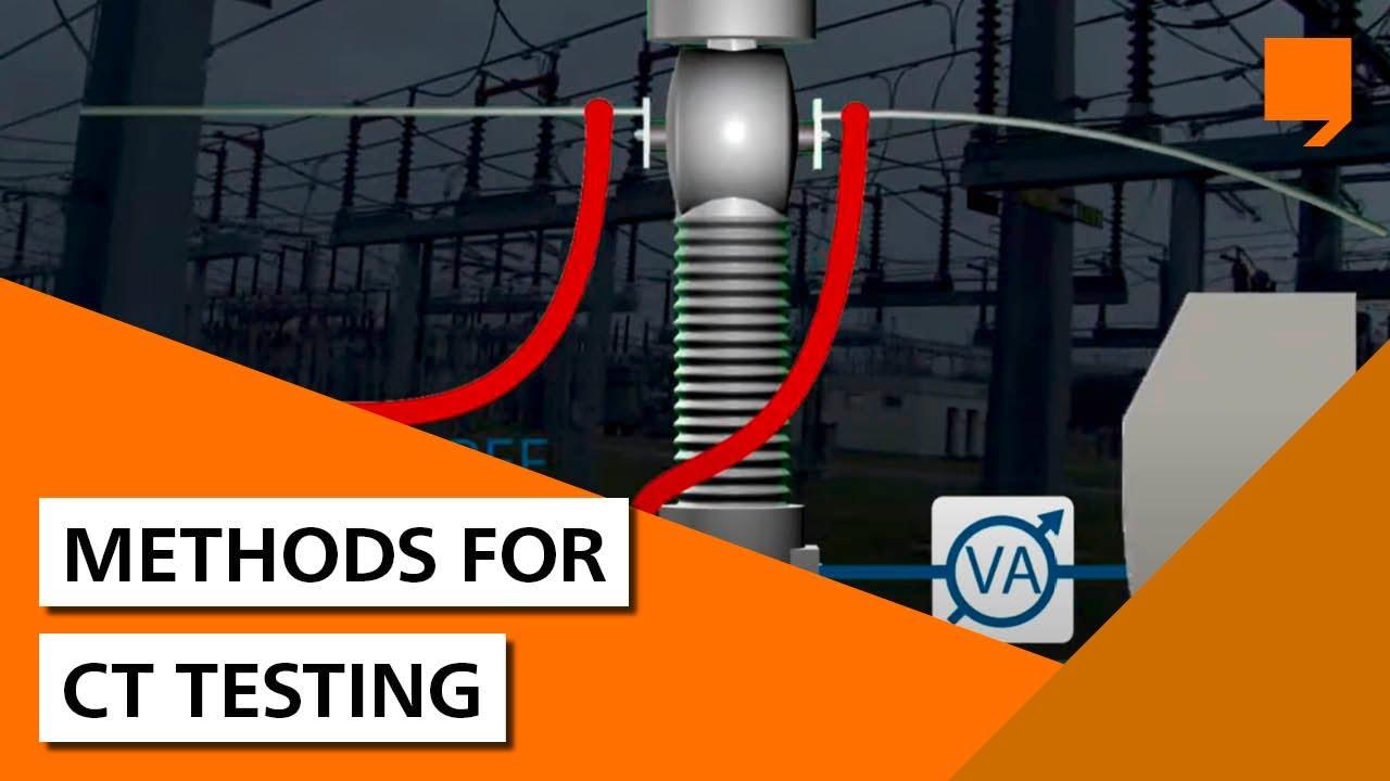 Methods for current transformer testing
