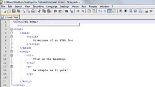 HTML Tutorial - 1: Introduction