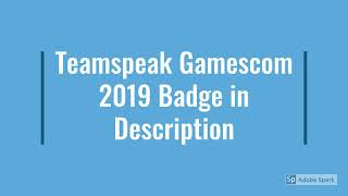 TeamSpeak Gamescom code badge