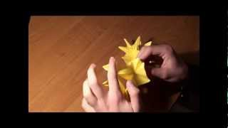 http://nashydetky.com Оригами. Кусудама Звезда.wmv
