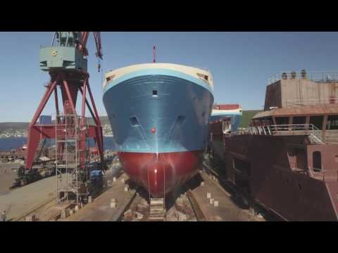 Launch of build no. 382 Kleven Maersk Starfish project