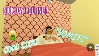 SICK DAY ROUTINE!    Roblox bloxburg   Itsllama