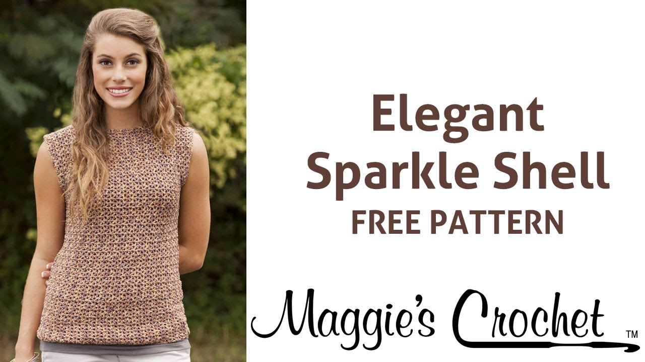 Elegant sparkle shell free crochet pattern right handed youtube bankloansurffo Image collections