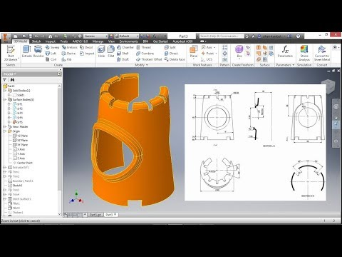Autodesk Inventor Simple Surface Design For Beginners