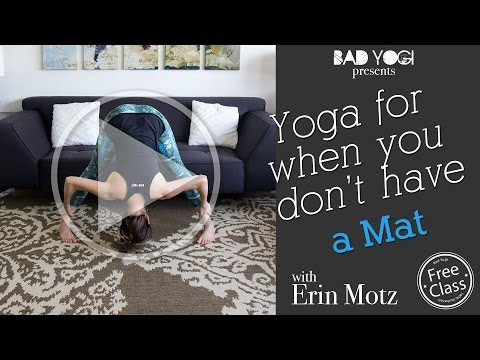 Yoga for When You Don't Have a Mat (Beginner)