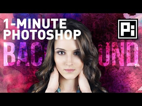 1-Minute Photoshop - How to Change Background (Episode 1)