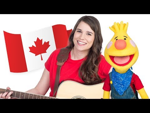 O Canada (Bilingual Version) | Canada's National Anthem | Caitie's Classroom