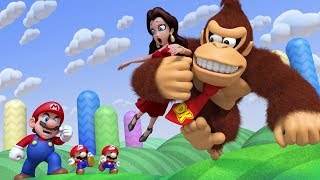 Mario Vs. Donkey Kong: Tipping Stars - World 1 Rolling Hills 100% Walkthough