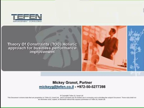 Theory of Constraints (TOC) - Holistic Approach for Business Performance Improvement