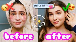 КАК СТАТЬ САМОЙ КРАСИВОЙ В ШКОЛЕ GLOW UP DIARIES Уход макияж советы