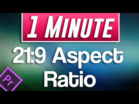 How to do Cinematic 21:9 Aspect Ratio Tutorial | Premiere Pro 2020