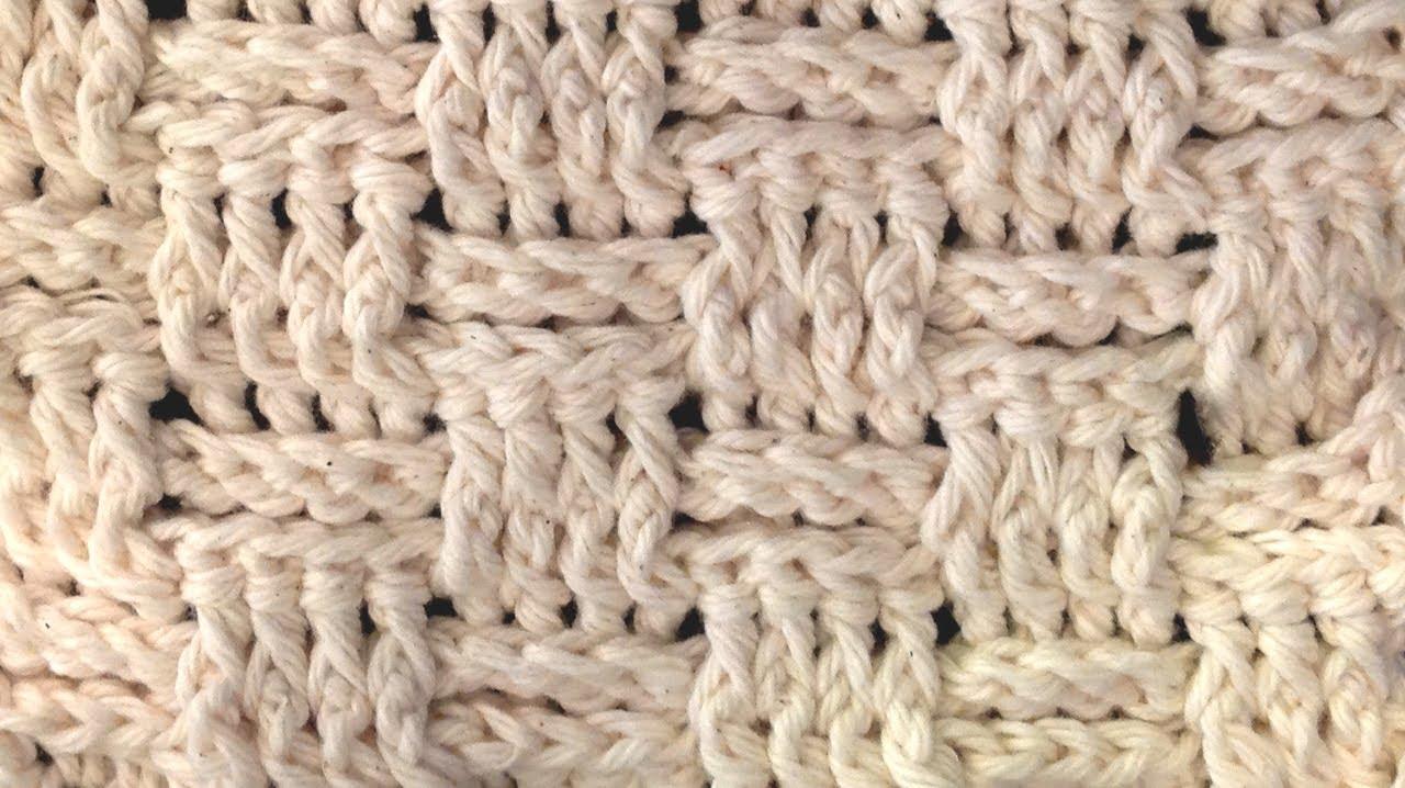Left Hand Basket Weave Crochet Stitch Lesson Youtube