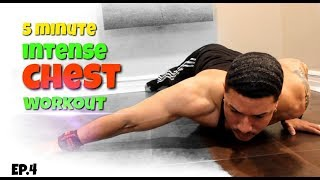Intense 5 Minute At Home Chest Workout (NO EQUIPMENT)