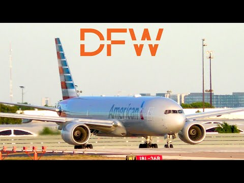 American Airlines Plane Spotting In AA's Hub In Dallas/Fort Worth International Airport (DFW)