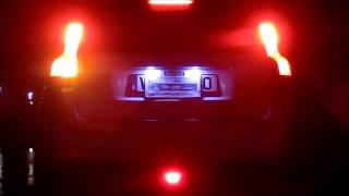 F1 style 12 LED Rear Tail Brake Stop Light Third Strobe Red Lens / Night