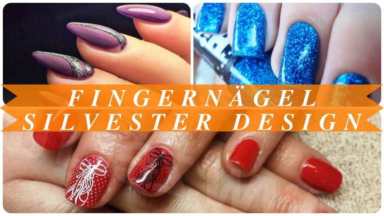 Fingernägel silvester design - YouTube