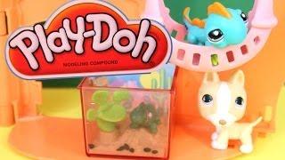 Littlest Pet Shop LPS Lizard makes PLAY DOH FOOD AllToyCollector