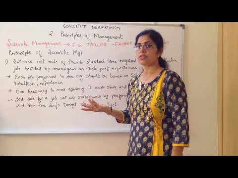 Science, not rule of thumb - Scientific Management Principle by F W Taylor Business Studies Class 12