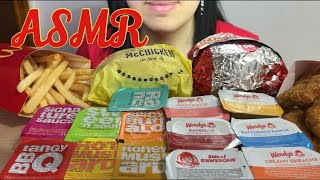 Asmr Mcdonald S Chicken Sandwich Fries Wendy S Chicken Nuggets Big Bites Eating Sounds