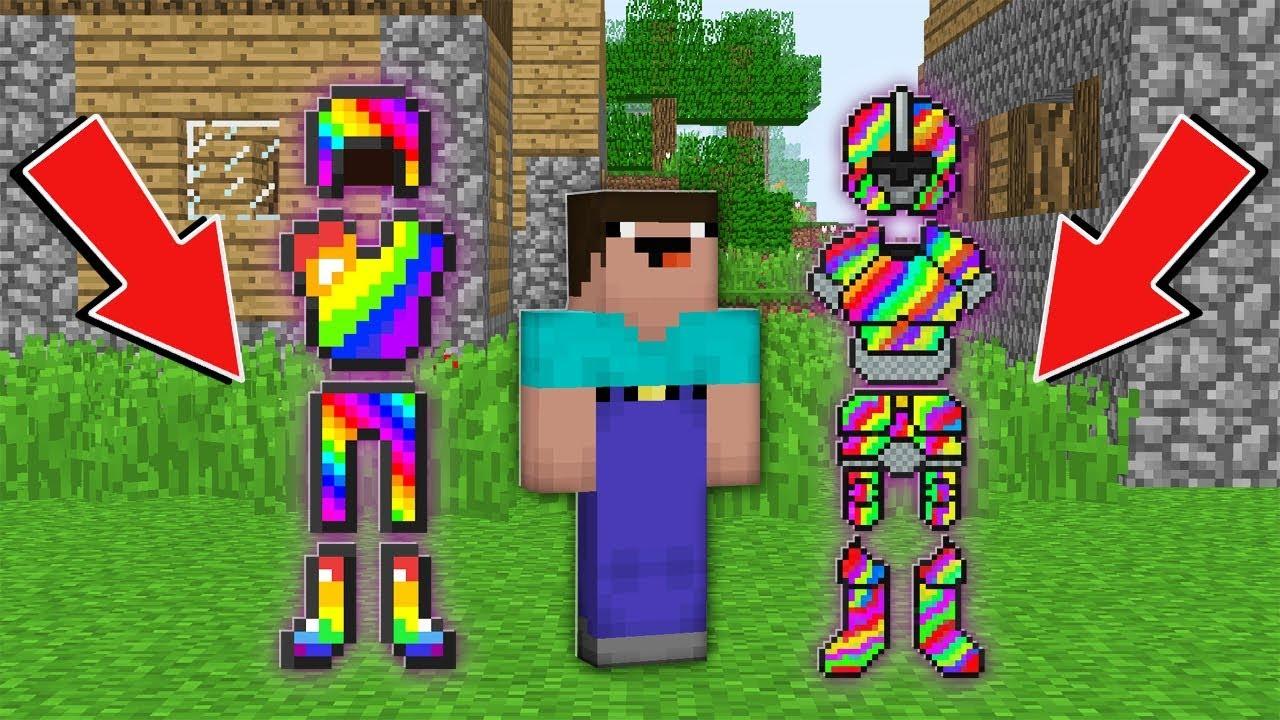 Minecraft NOOB vs PRO: WHAT RAINBOW ARMOR CHOOSE NOOB ? NORMAL vs LEGENDARY Challenge 100% trolling