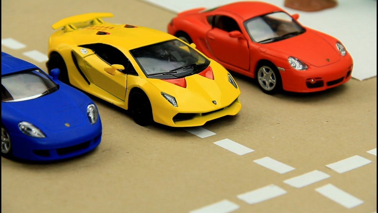 Kids Video About Race Cars Sports Car Race In The City For