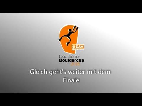 Deutscher Bouldercup (DBC) 2016 Finale - Köln, Stuntwerk vom 9.4.2016
