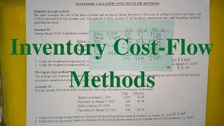 Inventory Cost-Flow Methods- Moving-Average Method