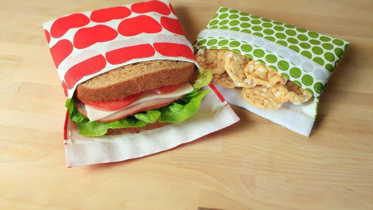 sacs sandwich et collation r utilisables cologiques youtube. Black Bedroom Furniture Sets. Home Design Ideas