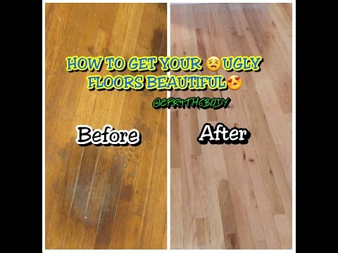How To: DIY and  Remove Hardwood Floor Stains FOR $.88 Cents |CPR4THEBODY|