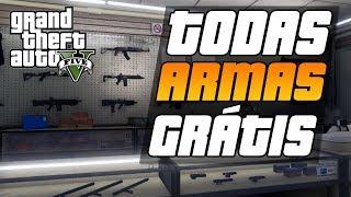 GTA V - DICAS - LOCALIZAÇÃO DE ARMAS GRÁTIS NO GTA 5