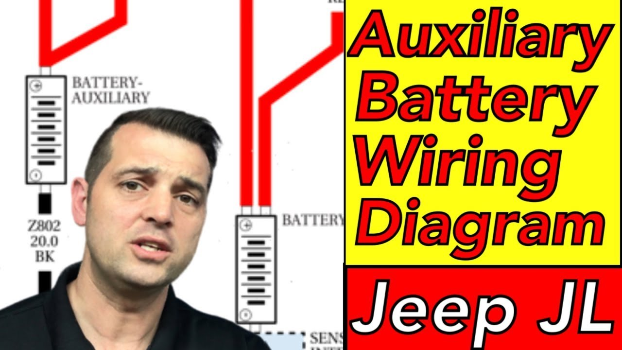 aux battery wiring diagram 2018 jeep jl wrangler auxiliary battery rh youtube com
