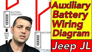Aux Battery Wiring Diagram 2018 Jeep JL Wrangler (Auxiliary Battery  Schematic) - YouTube | Willys Mb Battery Wires Diagram |  | YouTube