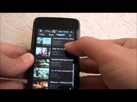 N900 YTube Player - Portrait youtube video preview