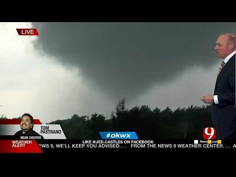 5/18/17 Tornado Warning & Hail Storms In Oklahoma