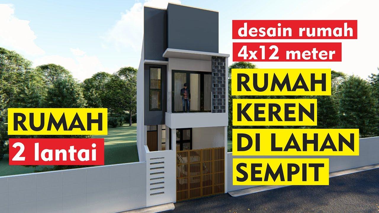 Download Desain Rumah Minimalis di Lahan Sempit | ukuran tanah 4x12 meter