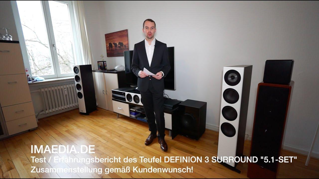 teufel custom definion 3 surround 5 1 set test erfahrungsbericht 2017 deutsch youtube. Black Bedroom Furniture Sets. Home Design Ideas