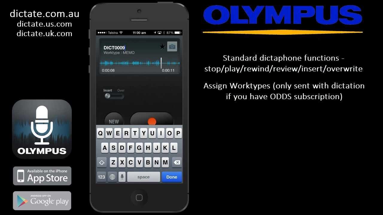 olympus dictation app reviews